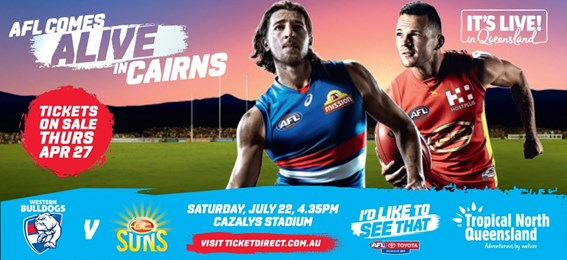 Western Bulldogs V Gold Coast Suns: 22 July