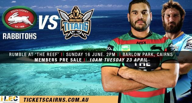 South Sydney Rabbitohs V North Queensland Cowboys: 16 July