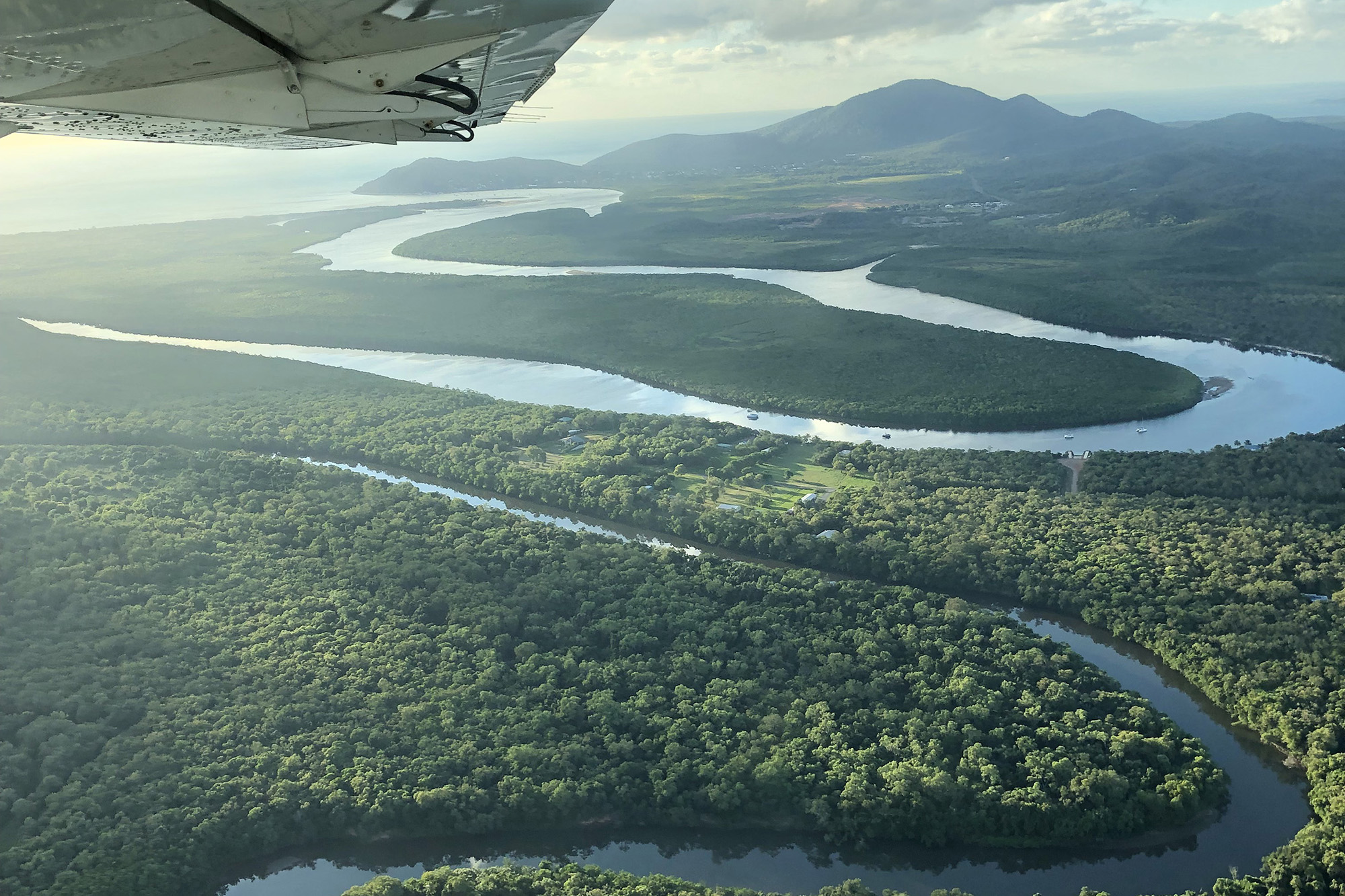 View of Daintree on flight